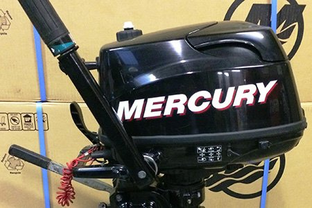 Black Mercury Outboard Engine
