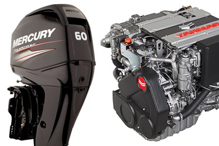 New Mercury Mercruiser Tohatsu Yanmar Engines